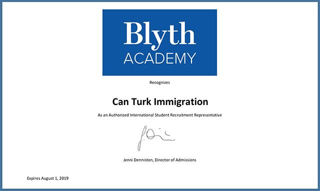 Blyth Academy Okul Kayıt Yetkilisi Kanada Canturk